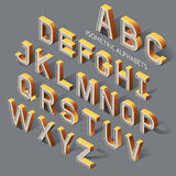 Isometric Alphabets. Royalty Free Stock Photos