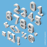 Isometric Alphabets. Set of Isometric Alphabets. Vector Illustration Stock Photos