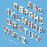 Isometric Alphabets. Vector Illustration. Royalty Free Stock Photos