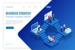 Isometric analizy inwestycja i dane Zarządzanie projektem, komunikacja biznesowa, obieg i konsultować, Strona internetowa i ilustracji