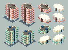 Isometric apartment Stock Photo