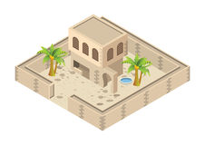 isometric arab house Stock Photography