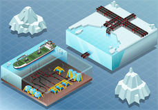 Isometric Arctic Subsea Farm and Tubes Stock Images
