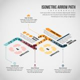Isometric Arrow Path Infographic Royalty Free Stock Photos