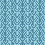 Isometric arrows pattern. Blue geometric seamless patterns Stock Images