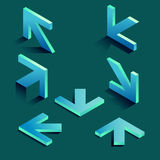 Isometric arrows Stock Photography