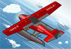 Isometric Artic Hydroplane in Flight in Rear View Stock Photography