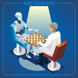 Isometric Artificial Intelligence Technology Concept stock illustration