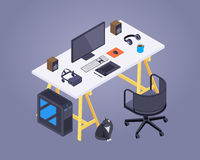 Isometric artist workplace Royalty Free Stock Images