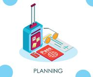 Isometric Artwork Concept of Online Dating where 2 people meet on this platform. vector illustration