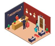 Isometric Artwork Online Listing of people Surfing Internet on Lapotp vector illustration