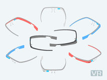 Isometric augmented reality glasses Royalty Free Stock Images