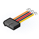 Isometric AUX Connector Vector Illustration royalty free stock photo