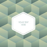 Isometric background cubes in retro vintage colors Stock Photo