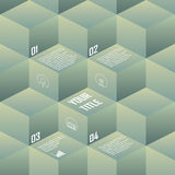 Isometric background cubes in retro vintage colors. Geometry backdrop suitable for infographics, presentations. Brochures, websites. Eps10 vector illustration Royalty Free Stock Photography