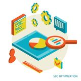Isometric background seo optimization Royalty Free Stock Photo