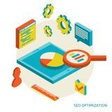 Isometric background seo optimization Royalty Free Stock Photo