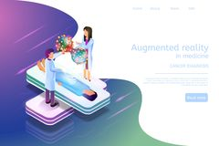 Isometric Banner Augmented Reality in Medicine 3d royalty free illustration