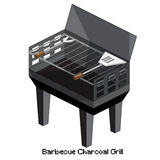 Isometric barbecue charcoal grill Stock Photo