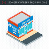 Isometric barber shop building Stock Image
