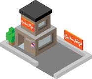 Isometric Barbershop Illustration royalty free illustration
