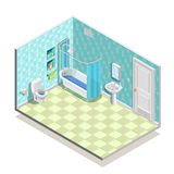 Isometric Bath Room Composition Royalty Free Stock Image
