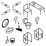 Isometric bathroom and toilet apartment interior Stock Images