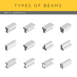 Isometric beams Stock Image