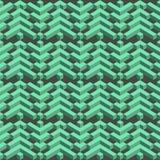 Isometric bezszwowy wzór rysuje tła trawy kwiecistego wektora nowoczesne tło Zdjęcie Royalty Free