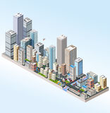 Isometric in a big city royalty free illustration