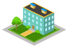 Isometric Big House Royalty Free Stock Photography