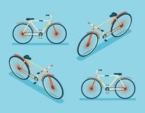 Isometric Bike Icon 3d Symbol Flat Design Template Vector Illustration Stock Images