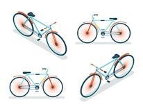 Isometric Bike Icon 3d Symbol Flat Design Template Vector Illustration Stock Photos