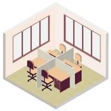 Isometric biurowa izbowa ikona ilustracja wektor