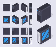 Isometric black PC cases Royalty Free Stock Image