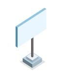 Isometric Blank Advertising Billboard Stock Photos