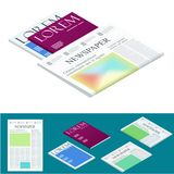 Isometric blank newspaper and magazines. Business and finance. Newspaper journal design template. Vector illustration. Isometric blank newspaper and magazines Royalty Free Stock Photos