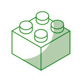 Isometric block game piece Royalty Free Stock Images