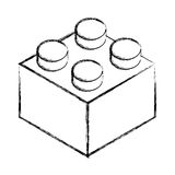 Isometric block game piece Stock Photo