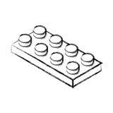 Isometric block game piece Stock Photos