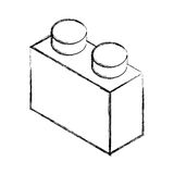 Isometric block game piece Royalty Free Stock Photos