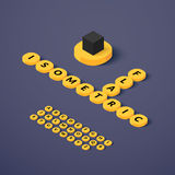 Isometric blocks with letters. Set, vector illustration vector illustration