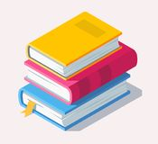 Isometric book icon in flat style. Vector Stock Image