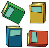 Isometric books. A set of colorful books Royalty Free Stock Photo