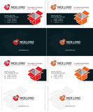 Isometric box business cards 1 Royalty Free Stock Photos