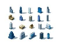 Isometric budynki Obraz Royalty Free