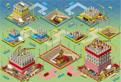 Isometric Building Construction Mega Set Royalty Free Stock Image