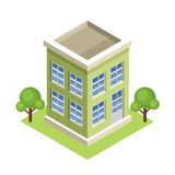 Isometric building. Royalty Free Stock Photo