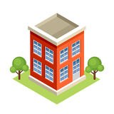 Isometric building. Stock Images