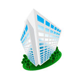 Isometric Building Office Home House Logo Design stock photo